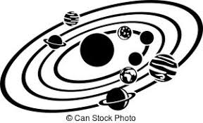 solar system clipart black and white 3
