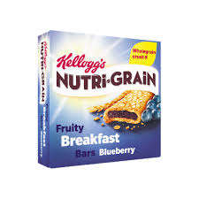 Kelloggs Nutri Grain Fruity Breakfast Bars Blueberry 6x37g