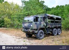 Military Personnel Carrier, 2 1/2 Ton Truck In Camouflage Stock ...