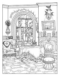 Free Coloring Page Victorian Interior Style Pages For