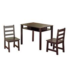 Kidkraft Heart Kids Table And Chair Set by International Concepts Unfinished Wood Kids U0027 3 Piece Table And
