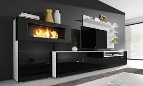 olympo kamin set für das wohnzimmer in weiß oder schwarz