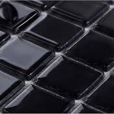 wholesale glass mosaic for swimming pool tile sheet black