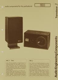 aec audio engineering components transducer ß beta brochure catalog