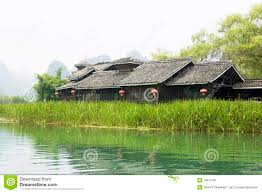 100 River Side House Chinese Side Stock Image Image Of Side Lake