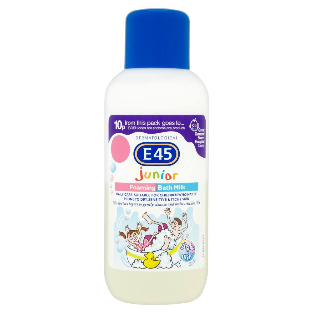 E45 Dermatological Junior Foaming Milk Bath - 500ml