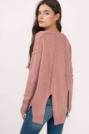mauve sweater purple sweater knitted sweater u20ac 88