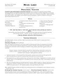 Early Childhood Resume Sample Educator Teaching Objectives Teacher Jpg 665x861 Kindergarten Dynamic Assistant Lesson Picturesque