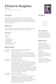 Fashion Stylist Resume Sample Examples Hairstylist Designer Objective
