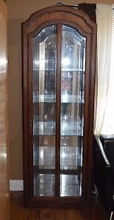 Pulaski Display Cabinet Vitrine by Pulaski Oak China Cabinet Closet Display Curio Beveled Glass