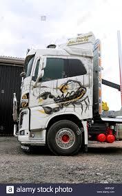 100 Scorpion Truck KOSKI TL FINLAND AUGUST 23 2014 Volvo FH16 Logging Truck With