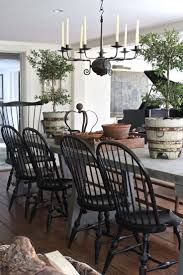 Rustic French Table With American Windsors | Farmhouse Home ... Refinished Painted Vintage 1960s Thomasville Ding Table Antique Set Of 6 Chairs French Country Kitchen Oak Of Six C Home Styles Countryside Rubbed White Chair The Awesome And Also Interesting Antique French Provincial Fniture Attractive For Eight Cane Back Ding Set Joeabrahamco Breathtaking