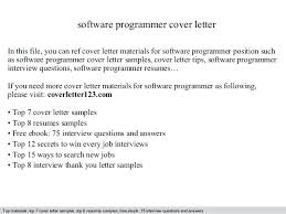 Software Programmer Cover Letter In This File You Can Ref