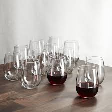 Stemless Wine Glasses 17 Oz Set Of 12