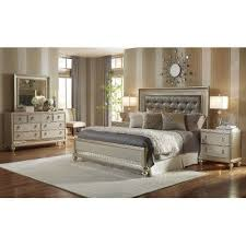 Champagne 6 Piece King Bedroom Set Diva