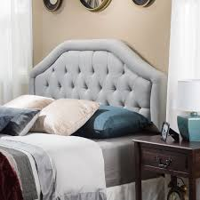 Roma Tufted Wingback Headboard Dimensions by Round Top Tufted Headboard Hayneedle
