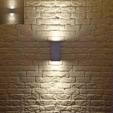 contemporary outdoor lighting fixtures set exposed brick