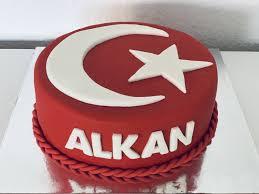 turkish flag fondant cake fondant torte geburtstag