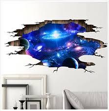 3d wandaufkleber wandtattoo weltraum poster galaxis tapete abnehmbar pvc wandgemälde selbstklebend 3d effekt wallpaper für schlafzimmer sofas