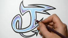 How to Draw 3D Letters T Uppercase T and Lowercase t in 90