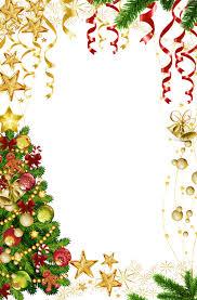 Transparent Christmas Photo Frame With Tree