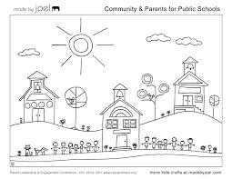 Community Parents For Public Schools Coloring Sheet