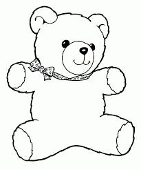 Chic Idea Bear Coloring Pages Preschool Teddy