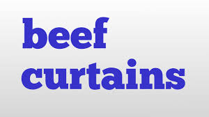 beef curtains meaning and pronunciation youtube
