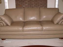 Thomasville Leather Sofa And Loveseat by 950 Thomasville Leather Sofa Like New Taupe Color For Sale In