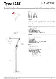 Tension Pole Lamp Shades by Type 1228 Floor Lamp Anglepoise Horne