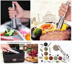Stainless Steel Thumb Push Salt Pepper Grinder Spice Sauce Mill Grind Stick Kitchen Tool Cooking Tools