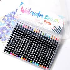20 Colors Watercolor Painting Soft Brush Marker Pen Set Best For Coloring Books Cartoon Comic Calligraphy Art Supplies In Markers From Office School