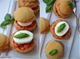 choux façon caprese tomate mozzarella l heure du creaml heure