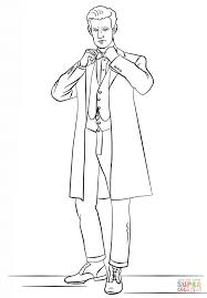 Click The Eleventh Doctor From Who Coloring Pages