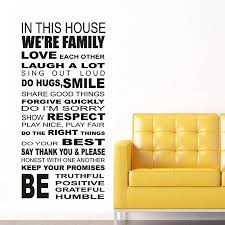 Ebay Wall Decor Quotes by Family House Rules Iii Wall Stickers Decal Removable Art Vinyl