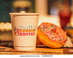 Dunkin Donuts Pumpkin Spice 2017 by Quincy Massachusetts April 2017 Dunkin Donuts Stock Photo