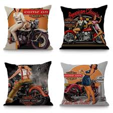 Vintage Motorcycle Racing Girl Cotton Linen Pillowcase Cover Chair Seat  Cushion Cover Home Decorative Cushion Sofa Car Almofadas Free Shipping Modern 8 Colors Solid Sofa Chair Designer Faux Linen Like Throw Fashion Cushion Cover Decorative Home Pillow Case X45cm Footsi High Chair Cushion Cover Pimp My High Spandex Chiavari Tk Classics Laguna Outdoor Middle With 2 Sets Of Covers 28 Great Of Pasurable Photos Moroccan Wedding Blanket How To Easily Recover A Improvement Amazoncom Aztec Pattern Kilim Lumbar Vintage Motorcycle Racing Girl Cotton Pillowcase Seat Car Almofadas 40cm Fluffy Plush Soft Peacock Caribou