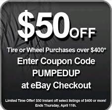 $50 Off Tire Of Wheel Purchase (discounttire Via Ebay ...