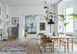 schlichte einrichtungsideen wohnzimmer scandi boho