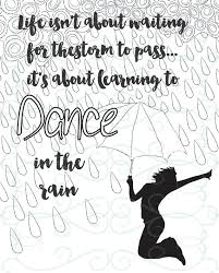 Adult Inspirational Coloring Page Printable 11 Dance In The Rain