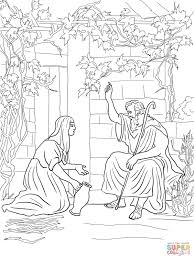 Click The Elijah And Widow Of Zarephath Coloring Pages