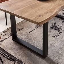 esszimmer tisch bank stühle aus holz metall