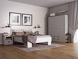 schlafzimmer komplett set c segnas 4 teilig farbe kiefer weiß eiche braun
