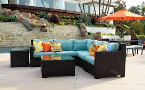 amazing patio sectional set rushreed 3 piece outdoor sectional