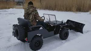 100 Truck With Snow Plow For Sale Mini UTV Utility Vehicle Jeep Included