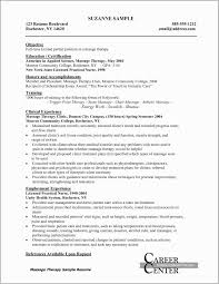 Resume Examples For Massage Therapist Therapy Fresh Luxury Cosmetology