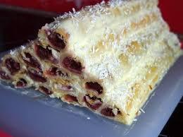 russische torte monastirskaja isba kirschröhrchen mit creme fraiche creme