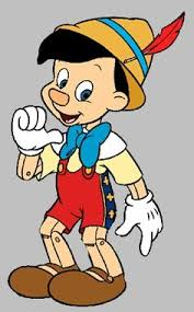 of Disney s Pinocchio laughing telling a lie walking to school etc