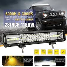 23Inch 1188W OSRAM Led Light Bar Spot Flood Offroad Work Driving ... 30 480w Led Work Light Bar Combo Driving Fog Lamp Offroad Truck Work Light Bar 4x4 Offroad Atv Truck Quad Flood Lamp 8 36w 12x Amazonca Accent Off Road Lighting Lights Best Led Rock Lights Kit For Jeep 8pcs Pod 18inch 108w Led Cree For Offroad Suv Hightech Rigid Industries Adapt Recoil 2017 Ford Raptor Race Truck Front Bumper Light Bar Mount Foutz Spotlight 110 Rc Model Car Buggy Ctn 18w Warning 63w Dg1 Dragon System Pods Rock Universal Fit Waterproof Cars