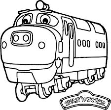Chuggington Coloring Pages Chuggington Wilson Train Coloring Pages